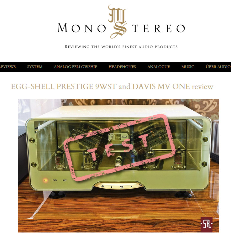 Mono and Stereo - test Egg-Shell Prestige 9WST