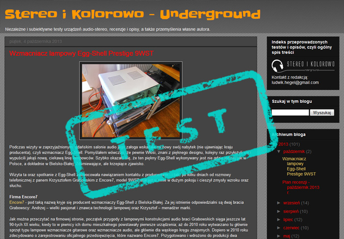Stereo i Kolorowo Undeground - Egg-Shell 9WST