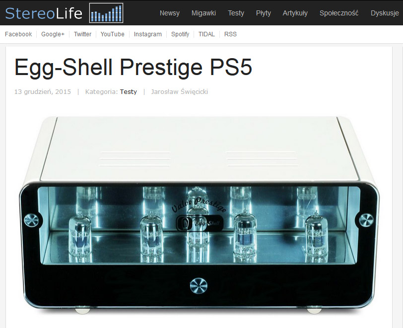 Stereolife.pl - test Egg-Shell Prestige PS5 (phonostage)