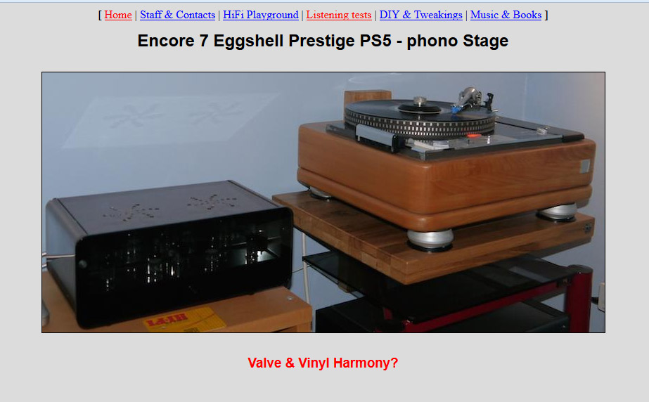 Prestige PS5 (preamp phono) reviewed in TNT-Audio - Valve
