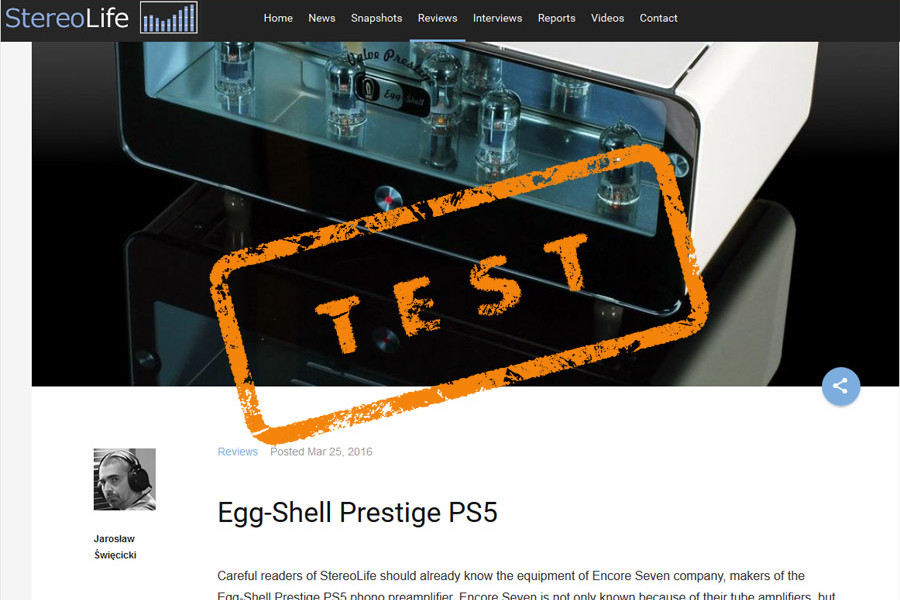 Review of phono stage Prestige PS5