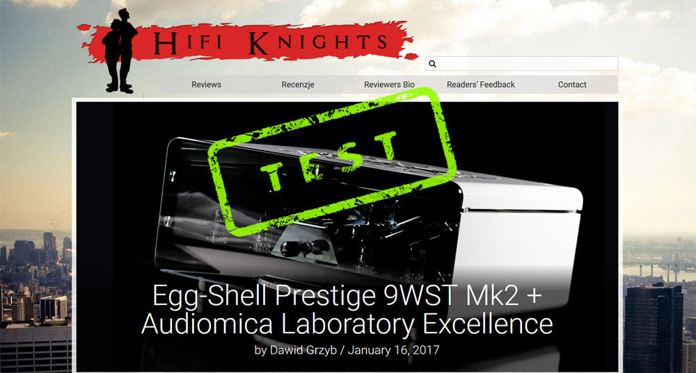 Review of EGG-SHELL Prestige 9WST MK2 with Audiomica cables